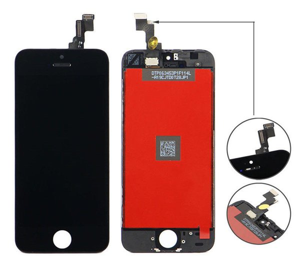 AAA+++ Quality LCD Display With Touch Screen Digitizer Assembly Replacement for iPhone 5 5s 5c DHL Free Shipping