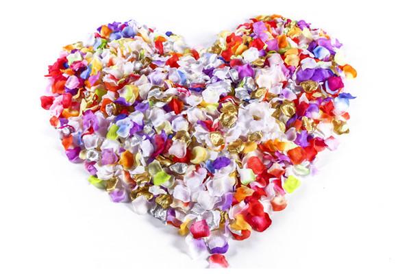 1500pcs Rose Petals Wedding Flower Fabric Petal Wedding Party Decor Favor Centerpieces Accessories Multi Colors New