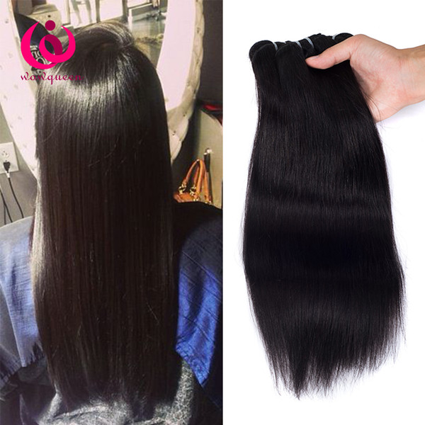 Indian Straight Hair Weave Bundles 4pcs/lot 8-28inch Wow Queen Hair No Shedding No tangle Cheap Whoelsale Price Indian Virgin Hair