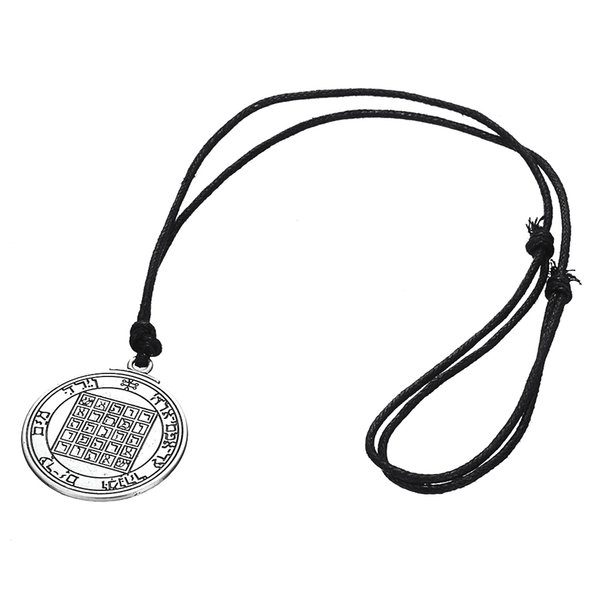 New Fashion Pentacle of Saturn Talisman Key of Solomon Seal Pendant Kabbalah Wiccan Charm Necklace