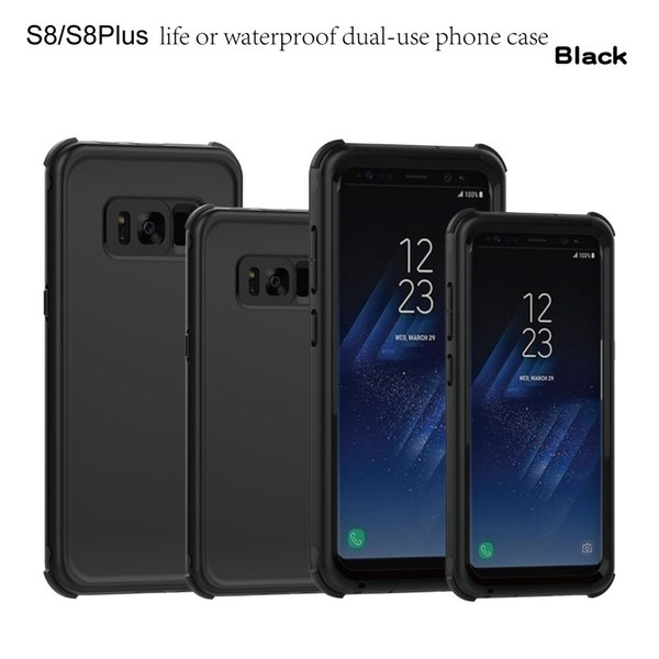 Newest Multi-function Ultra-thin Waterproof Shockproof Dustproof Phone Case Pouch Bag for Samsung Galaxy S8 Galaxy S8+ Plus