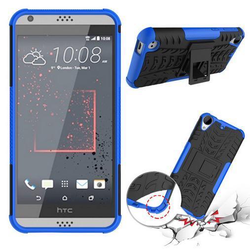 Pour Cas HTC Desire 530 Couverture Double Couche Armure Silicone + Étui En Plastique Pour HTC Desire 530 Cas Antichoc Téléphone Pour HTC 530
