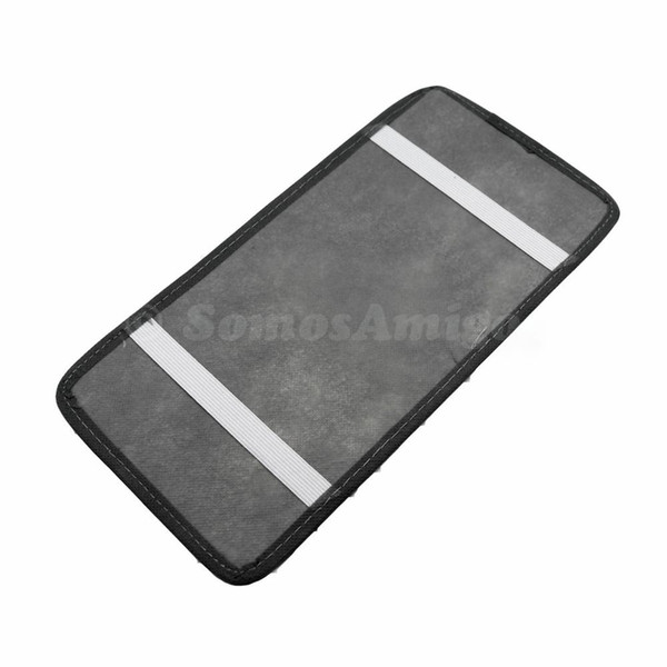 Al por mayor-Gris Color Novela Estilo 18PCS CD DVD Auto Car Vehicle Sun Visor Organizador Holder Bolsa de almacenamiento