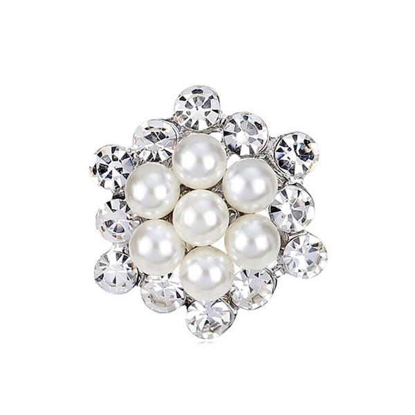 Pearl Brooch New Arrival Mini Rhinestone elegant Petal Flower Corsage For Wedding 7 Styles crystal flower brooch