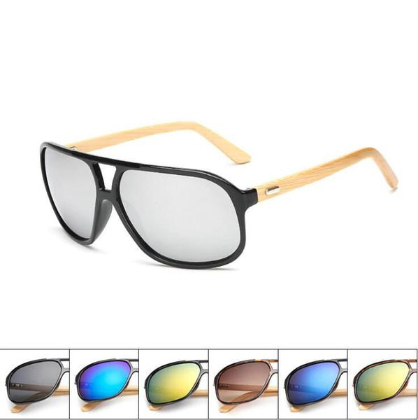 New Arrival Men Women Classic Retro Sunglasses Bamboo Foot Dazzle Colour Resin Lenses Goggles Glasses 7 Color Eyeglasses Free Shipping