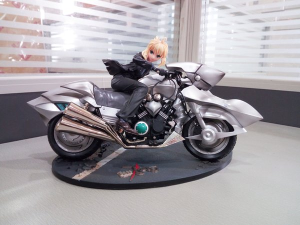 POPOToyFirm 29cm Japan Anime Fate Zero Fate Stay Night Action Figures Saber lily Motored Cuirassier figures PVC Model for collection toy