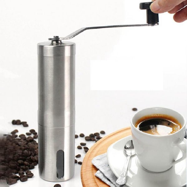 Manual Coffee Grinder with Stainless Steel Handle Precision Brewing Brushed Stainless Steel Manual Grinding Coffee Machine OOA1978