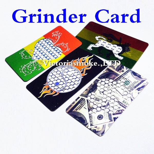 DHL Free Good Quality Fast Shipping Low Price Fashion stainless steel Credit Card Grinder Many Designs Grinder Machine for Herb
