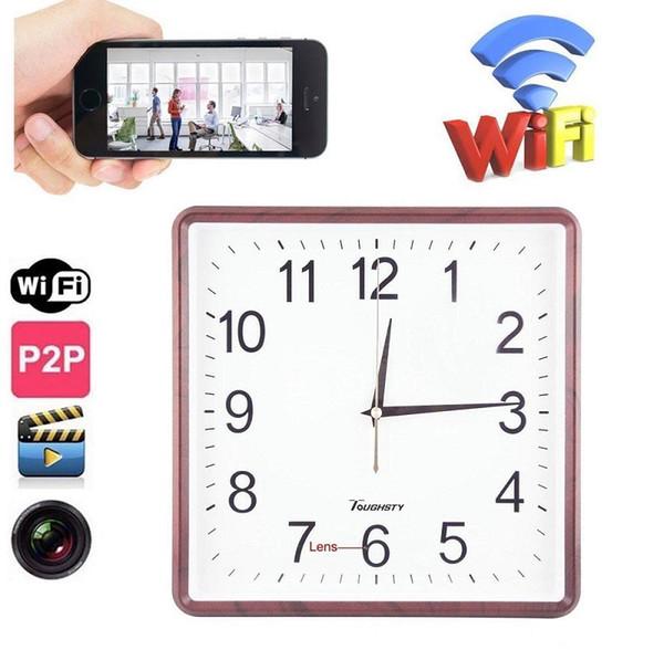 WIFI Clock camera FUll HD Wall Clock DVR mini audio Video recorder Wireless Surveillance Home Office Security Clock mini IP Camera Nanny Cam