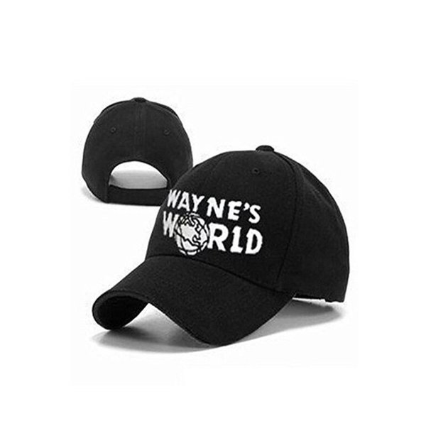 3 pcs wayne's world black cap hat baseball cap costume fashion style cosplay embroidered trucker hat mesh cap adjustable size