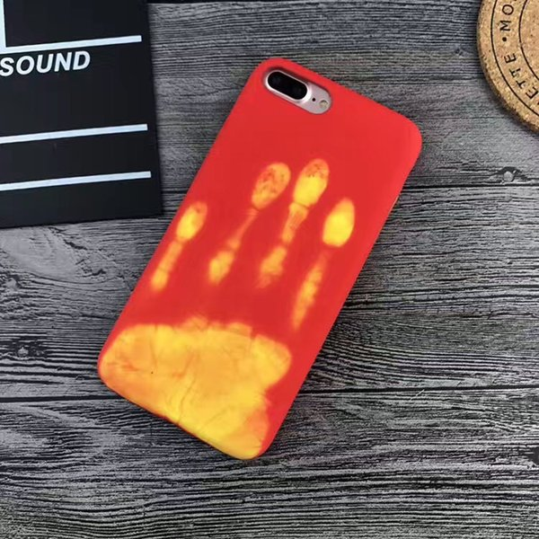Hot selling MatteThermal Sensor Thermal Heat Induction For iPhone 6s 7 7 plus shell PU Leather Heat sensitive Phone Back Cover case
