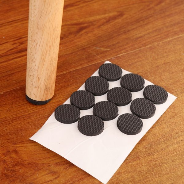 Wholesale- Useful Round Square Chair Table Desk Wardrobe Foot Leg Protector Sticky Mat Cushion 1 PCS