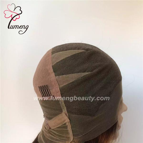 Plein de dentelle femmes perruques T couleur 1b couleur brune 100% brésilien vierge de cheveux humains fait à la main