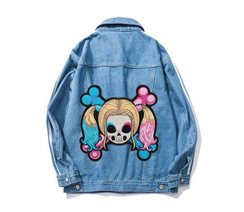 Baby Quinn Girl Skull & Crossbones Patch, Ladies Back Embroidery Iron On Or Sew On Patches 8.75*8.5 INCH Free Shipping