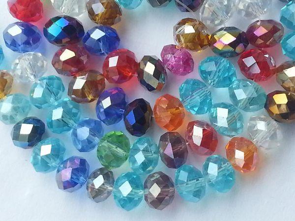 980pcs 4x6mm Multicoloured Swarovski Crystal Bead AB+