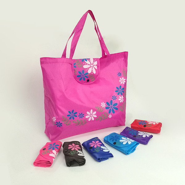 best selling Folding Buckle Shopping Bags 210D Oxford cloth Handbags environmental tote bags customization LOGO