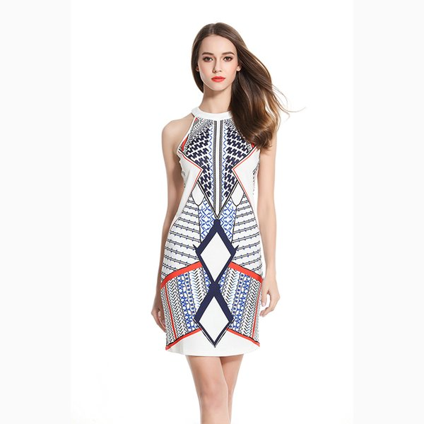 2017 Fashion Summer Women Dress Party Female Clothes Work Office Ropa Vestidos de Festa Vintage Pencil Dress Print design