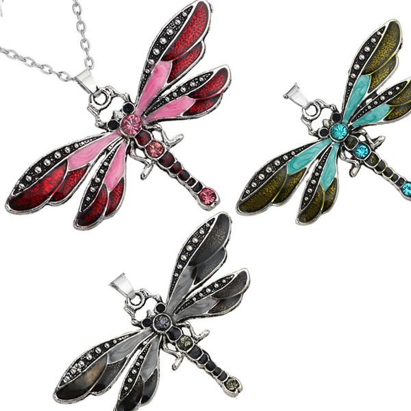 Monili di modo del modello animale della catena del pendente della farfalla dell'anello della collana della farfalla del nuovo cristallo del rhinestone per le donne 162493