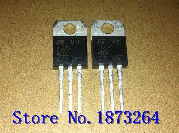 top popular Free shipping BTA12-400C BTA12 BTA12-400 TO220 original and new 10PCS LOT 2020