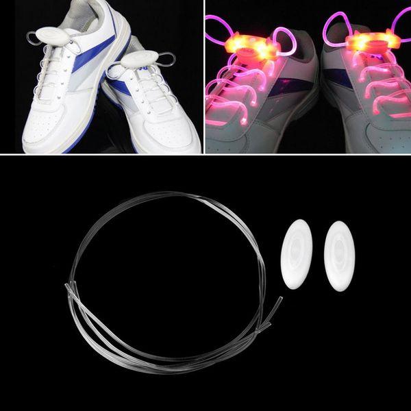 30pcs(15 pairs) Cool Flash Light Up Shoelaces LED Sport Shoe Laces Shoestrings 1 pair Glow Stick Strap Worldwide sale ball dance party