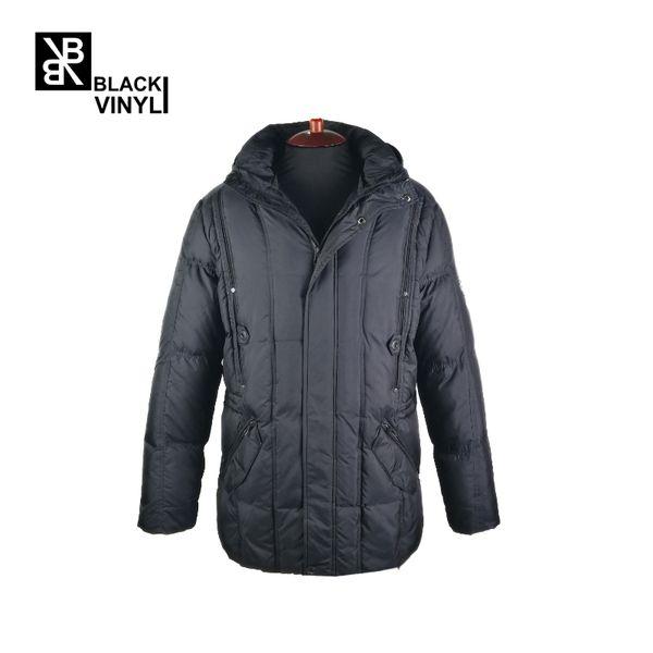 07 Clothing Blackvinyl871 Long From Jacket Men Fashion Brand Quality Male 70White Coat Black Thick New Down Duck Top Vinyl Winter Warm 2019 OPXk8n0w