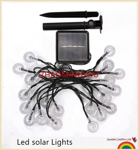 Led solar Lights 20LED Ball Shape RGB Outdoor String Light Christmas Outdoor Lighting Lampara Solar Led Exterior