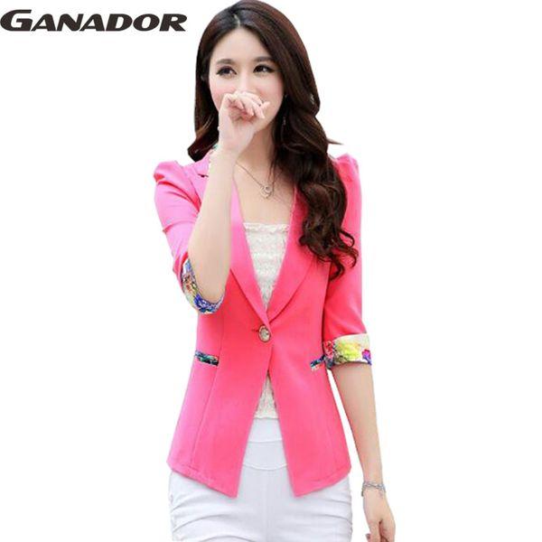 Wholesale-Ganador hot 2016 women spring autumn coats women jackets fashion single button blazers slim style coat jacket women DH0012na