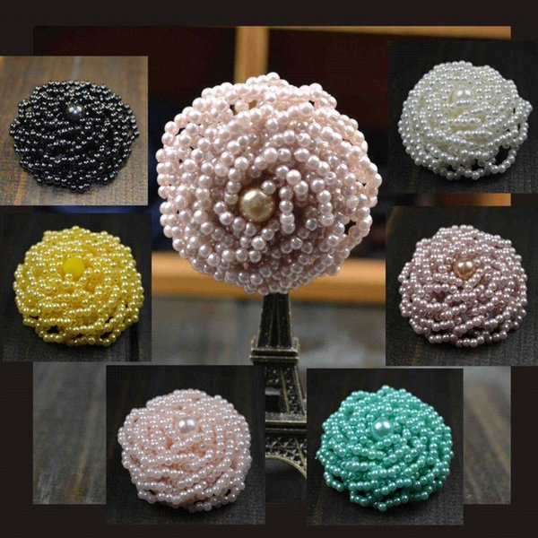 handmade brooches pins beads boutonniere for women 5color imitation pearls luxury brooch pin with gift box packing wedding brooch bride