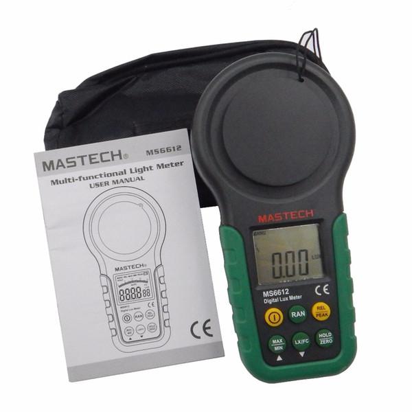 Freeshipping Lux meter 200,000 Lux Light Meter Test Spectra Auto Range High Precision Digital Luxmeter Illuminometer