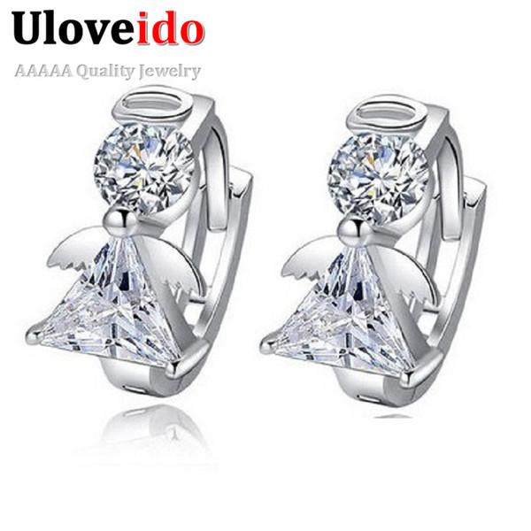 3dc91f8fb Uloveido Angel Stud Earring Earings Fashion 925 Sterling Silver Crystal  Earrings for Women Nickel Free Wholesale