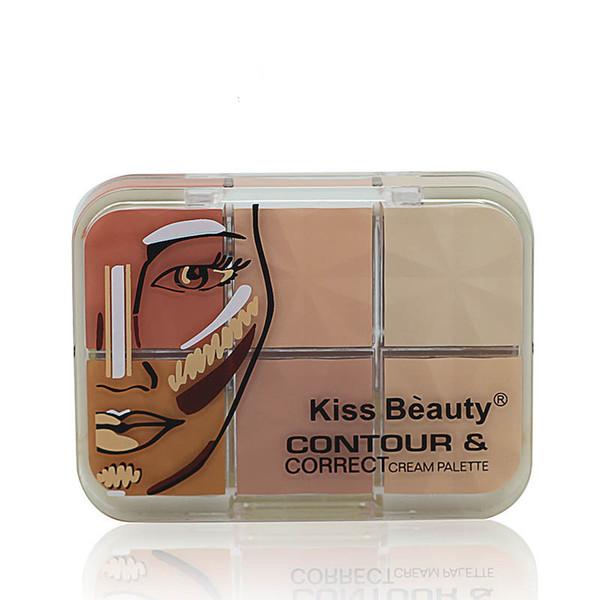 Kiss Beauty 6-color face concealer lasting concealer cover black eye pox print freckles