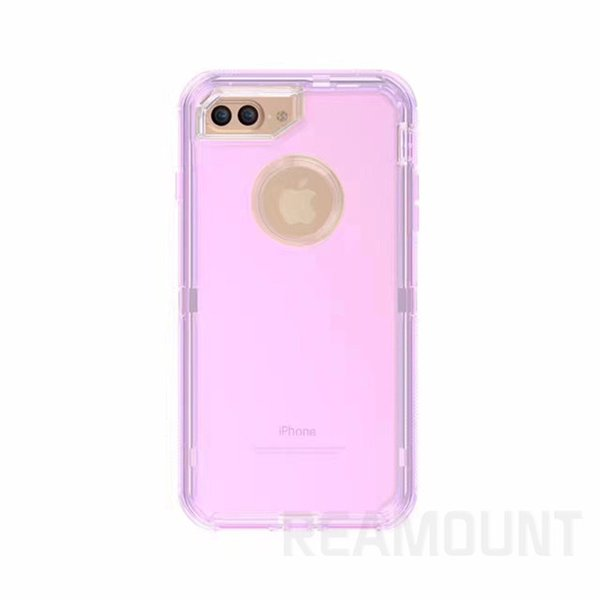 Fashion Transparent Cryatal Robot Clear TPU Defender Case Rugged hybrid Cases with Belt Clip for iphone 7 7plus for Samsung s7 s7 edge Case