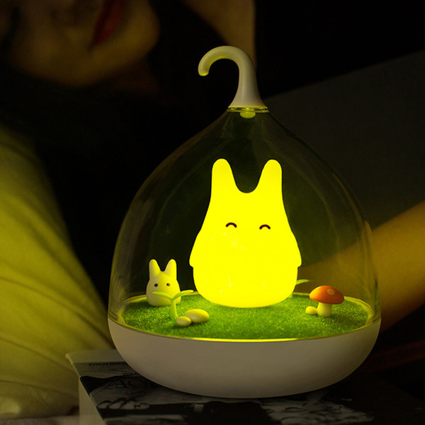 Wholesale- Lovely Birdcage Led Night Light Usb Rechargeable Touch Dimmer Table Bird Light Portable Nightlamp For Children Baby Bedroom