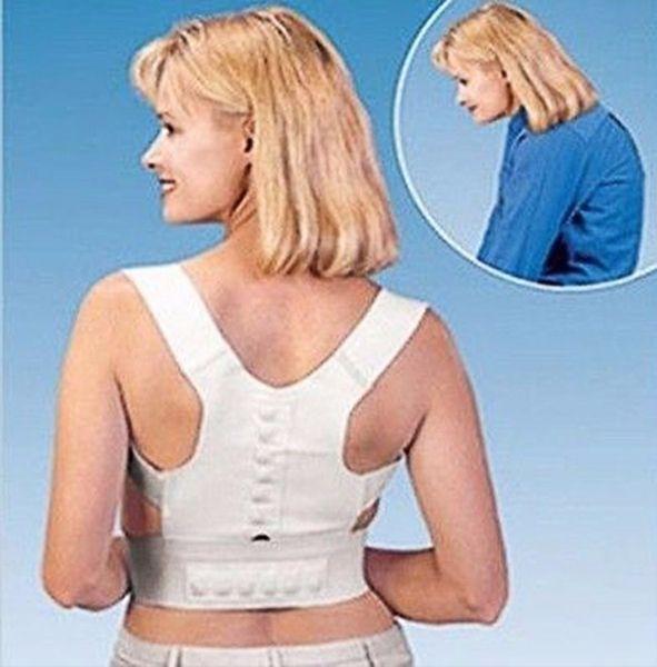 Adjustable Back Posture Corrector Corset Support Upper Shoulder Men Women Magnetic Therapy Back Pain Lumbar Belt 1000pcs OOA2161