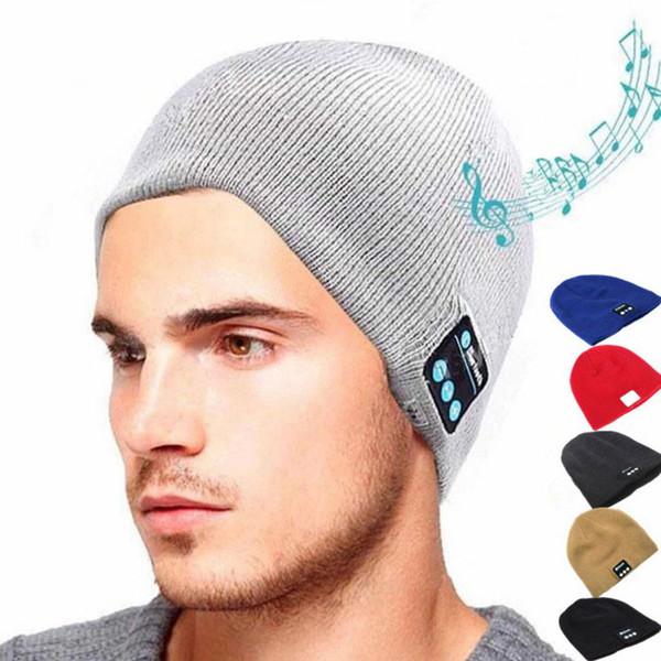 Hot Wireless Bluetooth Headphone Headset Earphone Hat Speaker Knitted Beanie Hat Cap winter warm running cap 6 Colors