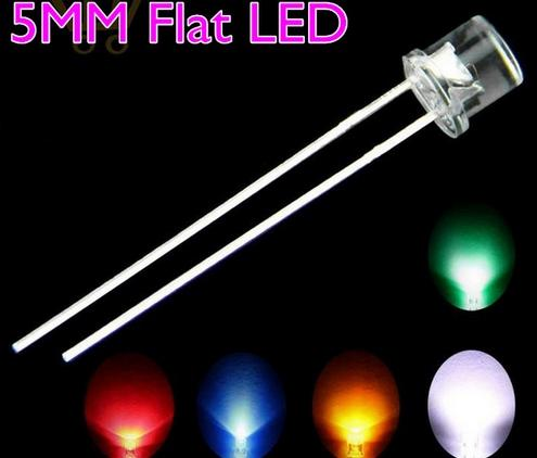 top popular MIX Flat Top 5mm LED Diode Red Green Yellow Orange Pink Purple Color 2020