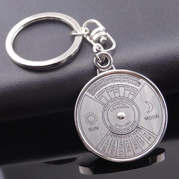 Chinese calendar keychain car key pendant Ms. male Korean creative gifts metal ring key chain pendant