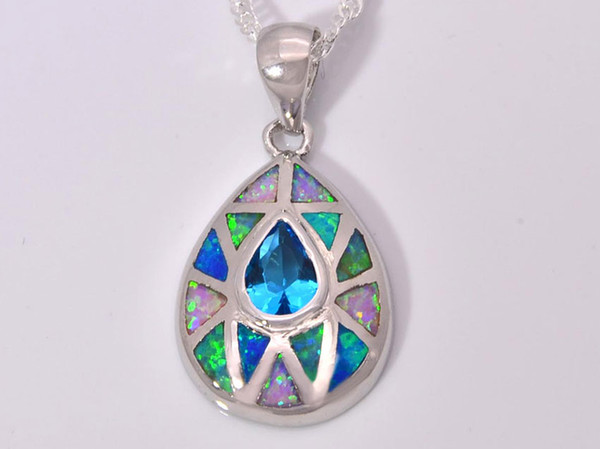 Wholesale wholesale retail fashion jewelry fine blue fire opal wholesale retail fashion jewelry fine blue fire opal stone silver plated pendants for women pat002 aloadofball Image collections
