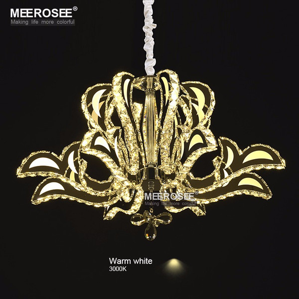 Luxurious Crystal Chandelier LED Light Fixture Flower Crystal Lamp for Dining room Lustres Hanging Luminaire Modern Lighting