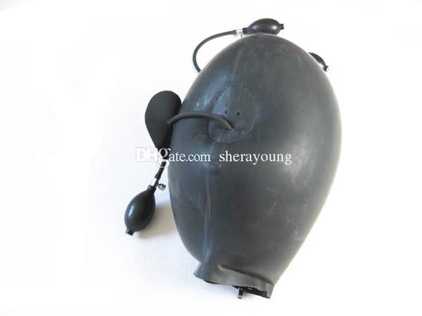 БДСМ Секс Игрушки для Женщин Надувные Латексные Головные Капюшоны Маска Связывание Передач Ограничения Ball Gag Продукты Черный
