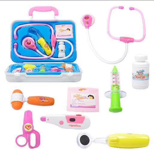 Doctor Box Kids Pretend Play Jouets Ensemble Pour Enfants Enfants Medicine Box Rôle Jouer Éducatif Bébé Classique Jouets YH534