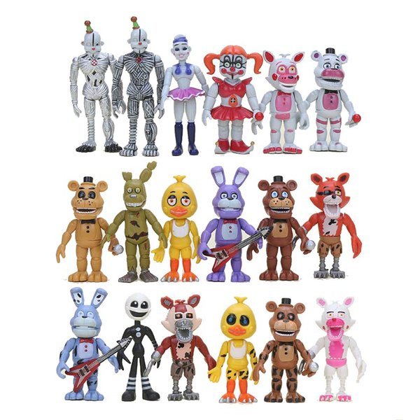 18pcs /Set Five Nights At Freddy ' ;S Baby Fnaf Funtime Foxy Funtime Freddy Ballora Ennard Puppet Action Figures Model Toy