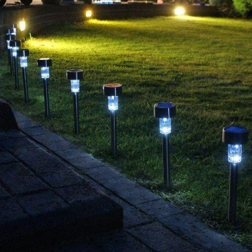 En gros en acier inoxydable solaire pelouse cour jardin lumières extérieures décoratives lumières contrôle de l'éclairage prise de lumières