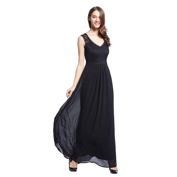 edaeb05294 Envío gratis vestido de bola de las mujeres Prom Maxi largo gasa noche  formal del vestido