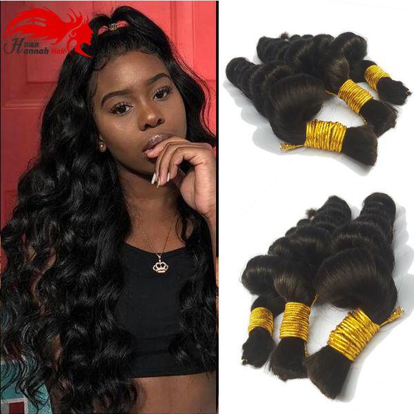 best selling Human Hair For Micro Braids Bulk hair No Weft Natural Color Braids Extensions Brazilian Braiding Hair