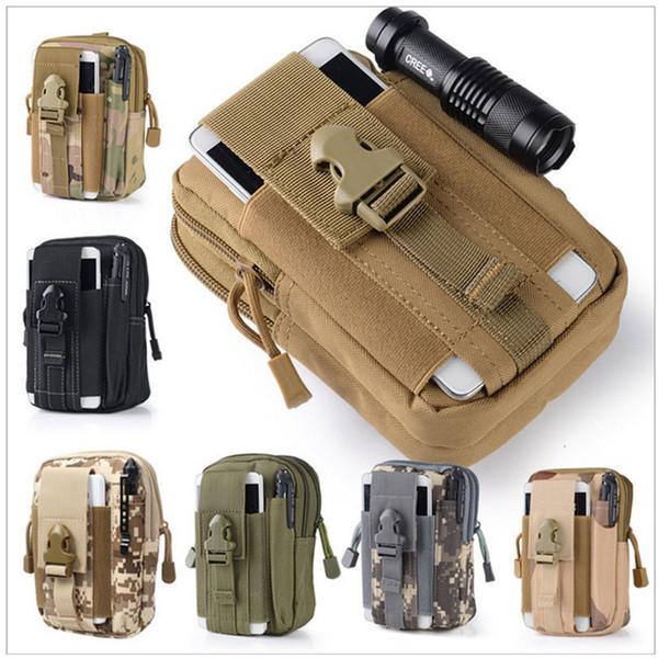 top popular Hot Camping Climbing Bag Outdoor Tactical Molle Hip Waist Belt Wallet Pouch Purse Phone Case for IPhone waist pocket M212 2021