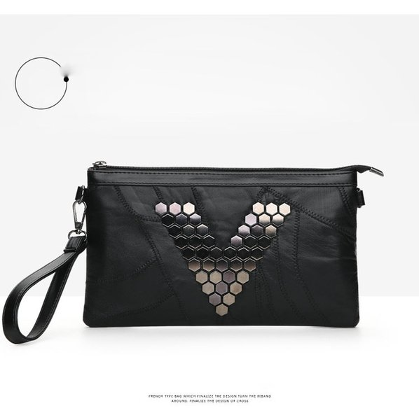3pc 2017 new Fashion Multi-functional Evening party Clutch messenger cosmetic Envelope Purse wallet Handbag Phone Bag shoulder With Rivets