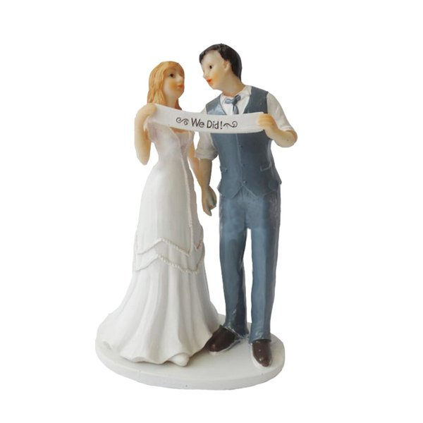Wedding Cake Topper with Bride and Groom Couple Figurine We Did Cake Decoration for Wedding Anniversary Party