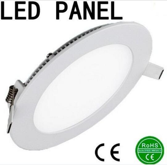 Sıcak sıcak 6 w / 9 W / 12 W / 15 W / 18 W / 21 W BOYUTLUK LED Panel ışıkları Gömme lamba Yuvarlak / Kare kapalı ışıklar için Led downlight 85-265 V + Led Sürücü