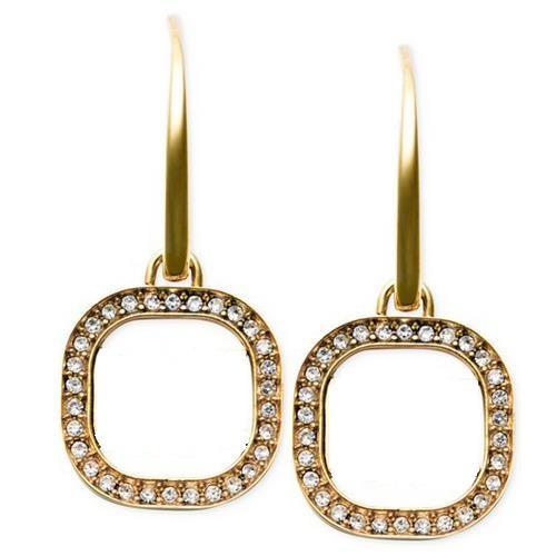 New York Fashion drop earrings Crystal square hoop earings Fashion brand Jewelry wedding jewellery for women girls lady